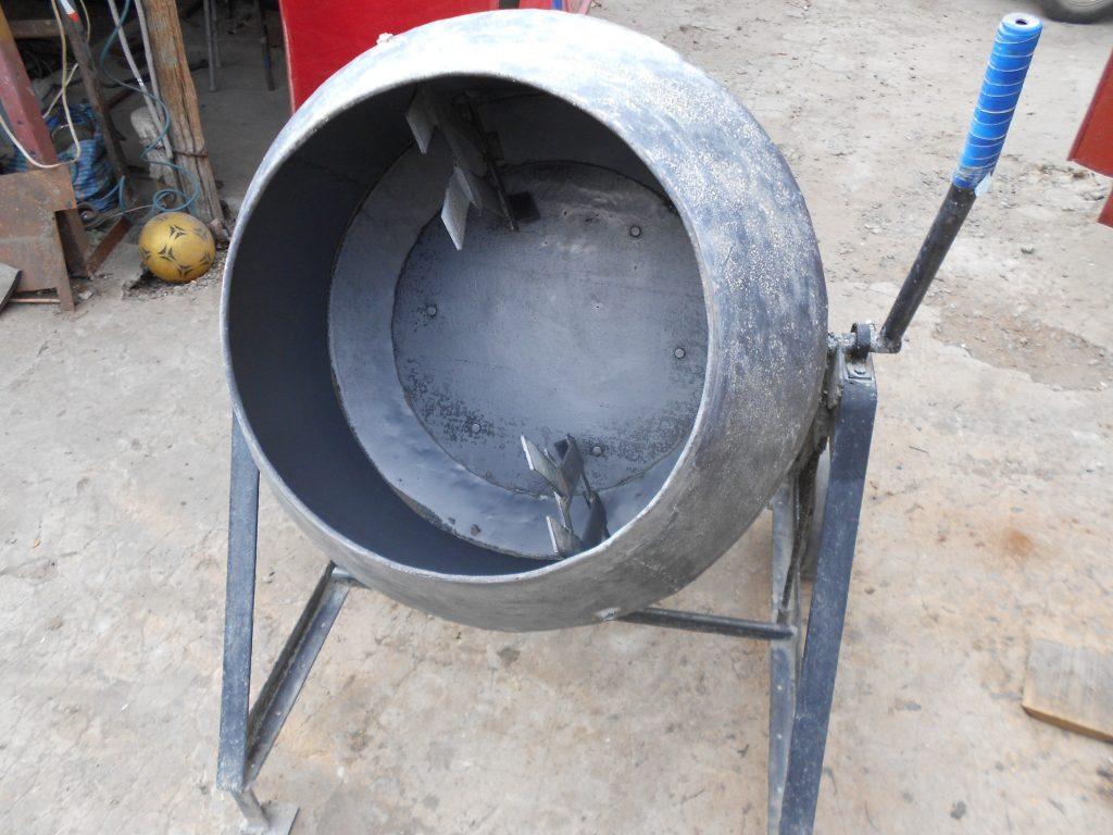 бетономешалка из газового баллона
